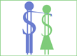 Frugal Couple Ad Logo